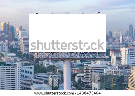billboard or advertising poster on building for advertisement concept background. #1438473404