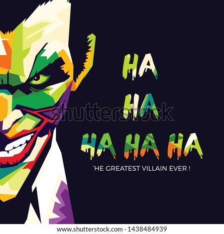 Joker Smile Illustration With WPAP Style Design