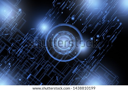 Abstract blue bright hi tech futuristic technology pattern for digital technology background. #1438810199