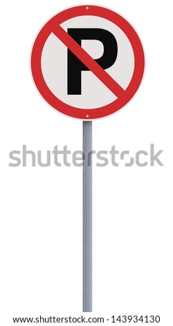 A no parking sign