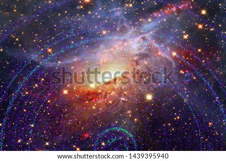Beautiful galaxy. Nebulae and stars. The elements of this image furnished by NASA.