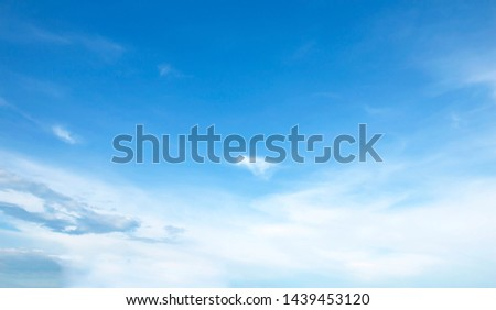 blue sky white clouds background #1439453120