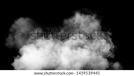 white smoke cloud with black background #1439539445