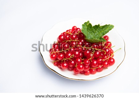 Red Currants on Stems in Bowl #1439626370