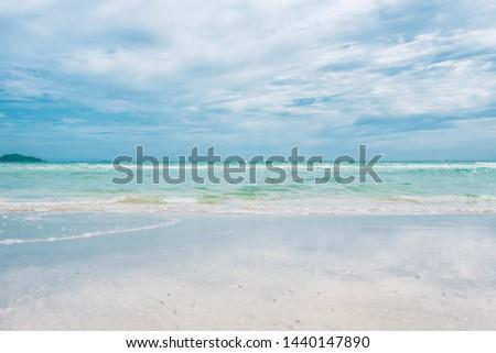 Rock on the beach at nam sai beach on Samaesarn. Sattahip, Chonburi, Thailand.Background Texture.