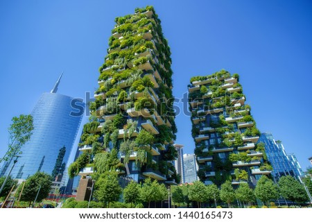 Bosco Verticale (Vertical Forest) in Milan city, Italy #1440165473