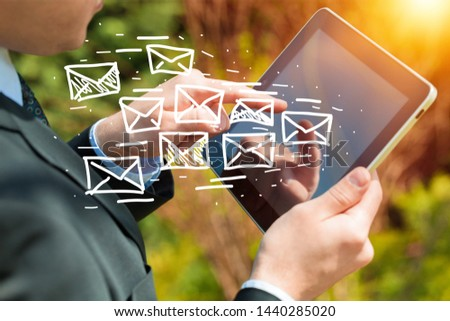 Concept of sending e-mails from your computer #1440285020