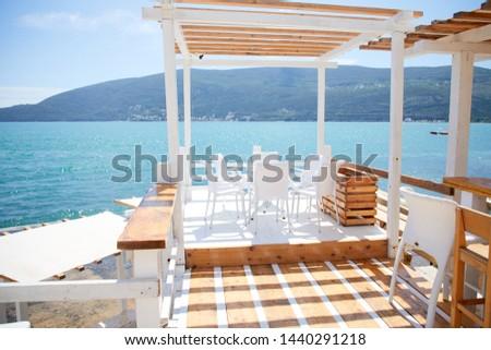 luxury restaurant terrace near sea #1440291218