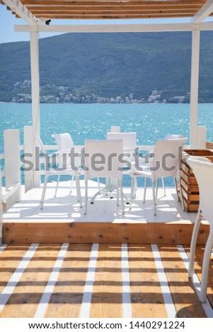 luxury restaurant terrace near sea #1440291224