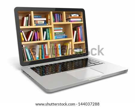E-learning education or internet library. Conceptual image