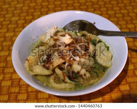 bubur ayam or Porridge chicken is one of traditional porridge in Pekalongan Indonesian -image #1440460763