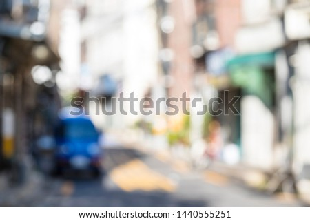 blurred background street in the city #1440555251