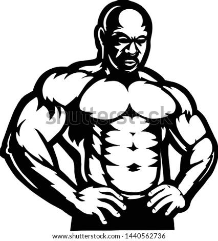 Body Building Vector logo templete #1440562736