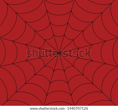 Vector Spider, web, Cobweb on Red background.