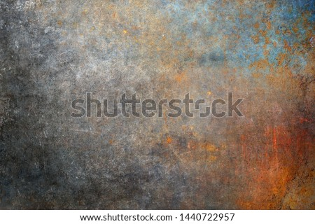 Rusty steel plate, corroded iron texture #1440722957
