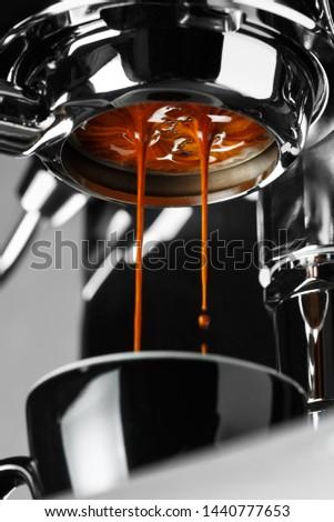 Espresso shot from espresso machine #1440777653