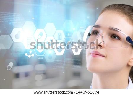Medical technology or medical network concept #1440961694
