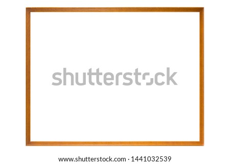 wood frame and complete white background