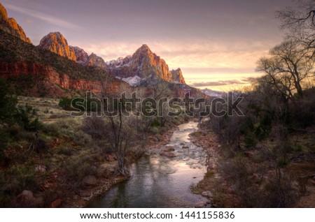 Zion national park in Utah #1441155836