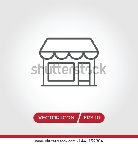 Store icon vector. Simple store sign in modern design style for web site and mobile app. EPS10 #1441159304