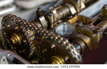 The timing chain, timing mechanism, engine repair. #1441199984