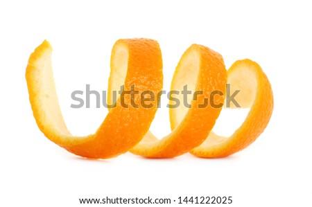 Orange peel isolated on white background #1441222025