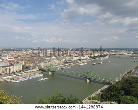 View on the Liberty Bridge in Budapest, Hungary #1441288874