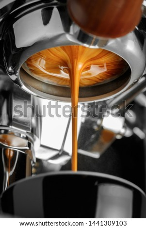 Espresso shot from espresso machine #1441309103