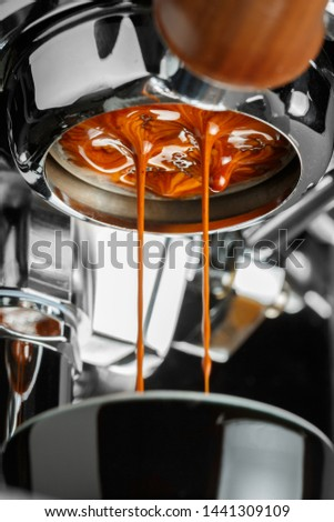 Espresso shot from espresso machine #1441309109