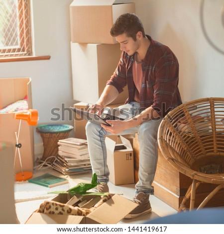 Boston,Massachusetts/USA - 02/21/2019  man using laptop #1441419617