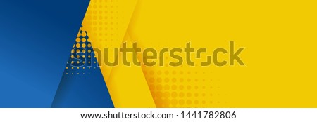 Abstract background modern hipster futuristic graphic. Yellow background with stripes. Vector abstract background texture design, bright poster, banner yellow and blue background Vector illustration. Royalty-Free Stock Photo #1441782806