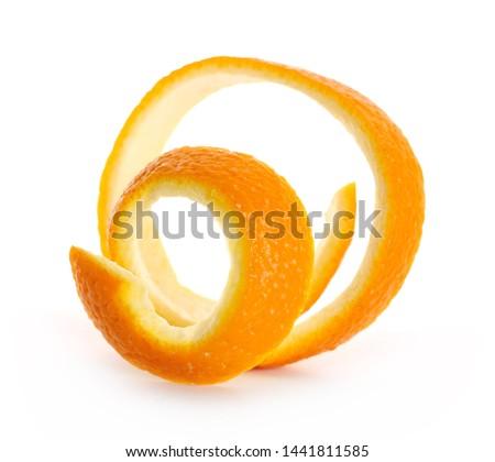 Orange peel isolated on white background #1441811585