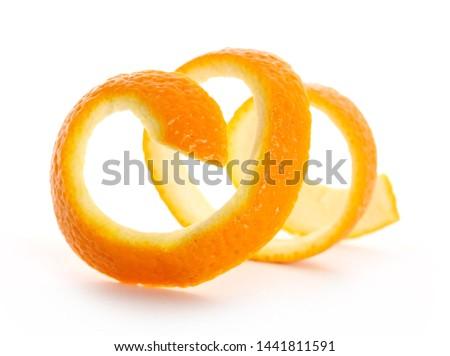 Orange peel isolated on white background #1441811591