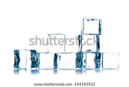 ice cubes isolated on white #144183922