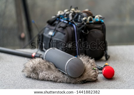 Sound and voice recording equipmnet - microphones and recording bag