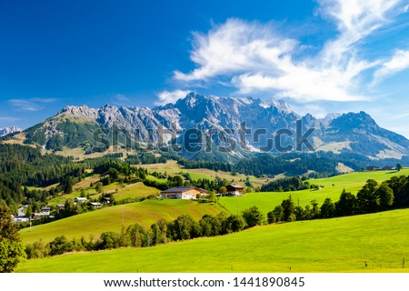 Austrian Alps nearby Arturhaus and Bischofshofen Royalty-Free Stock Photo #1441890845