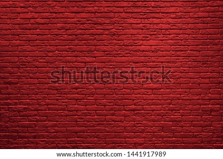 Red brick wall background. Brick wall texture. #1441917989
