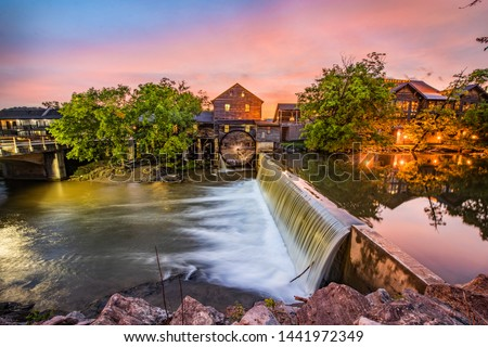Pigeon Forge Tennessee TN Old Mill at Sunrise. #1441972349