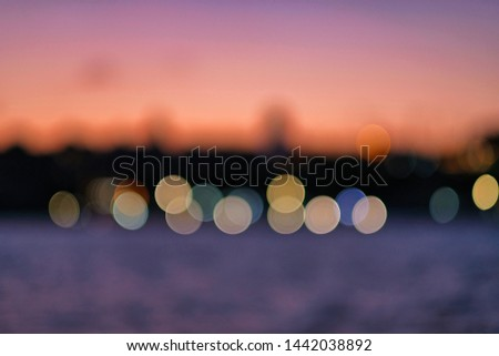 Abstract background/wallpaper with blurred and bokeh lights / İstanbul-Turkey #1442038892