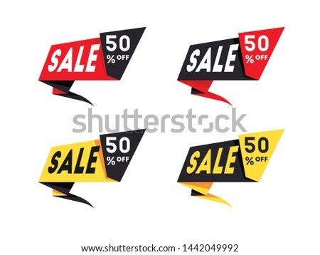 Set of sale banners template design #1442049992