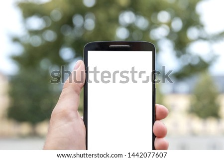 plain smartphone with white text field background #1442077607