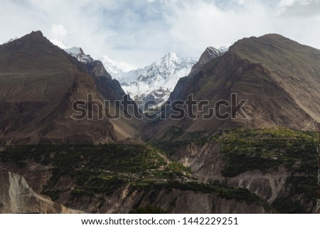 Heavenly view of the Hunza valley. #1442229251