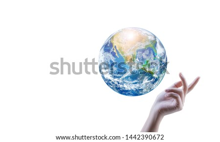 Earth or world  Elements of this image furnished by NASA #1442390672