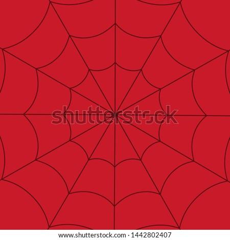 Red spider web background. Spider web. Vector