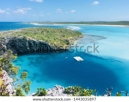 Long Island, Bahamas Dean's Blue Hole Diving Hole #1443035897