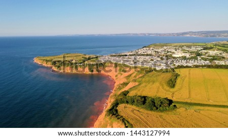 Haven Holiday Park Devon Cliffs Royalty-Free Stock Photo #1443127994