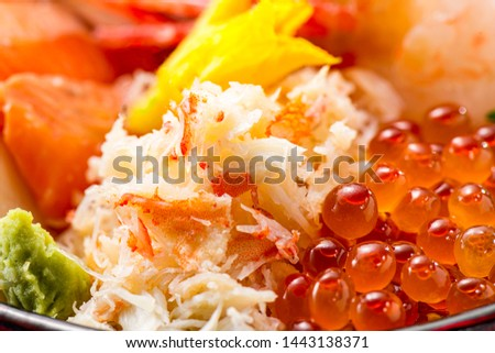 Delicious crab meat when boiled #1443138371