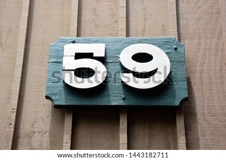 The house number fifty nine #1443182711
