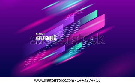 Layout design with dynamic shapes for event, tournament or championship. Sport background. #1443274718