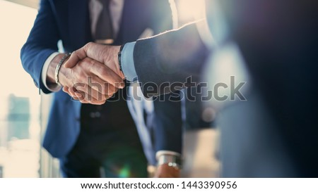 Business partnership meeting in office Royalty-Free Stock Photo #1443390956